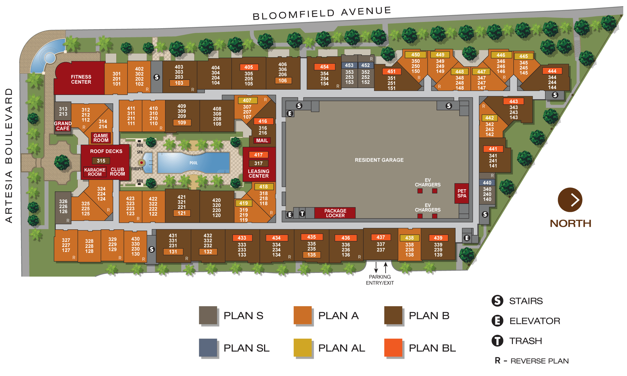 Aria Apartments Site Plan