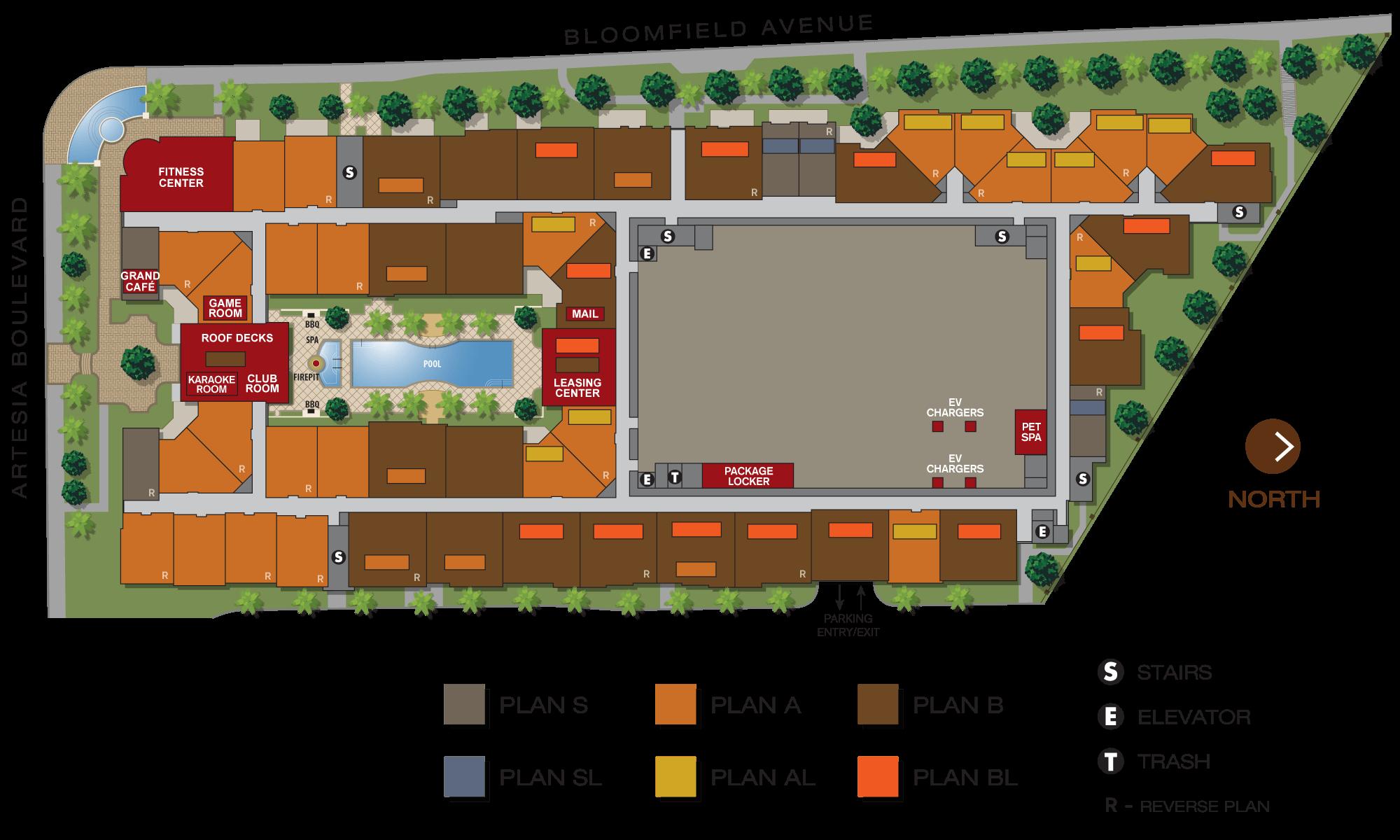 Aria Apartments Site Plan