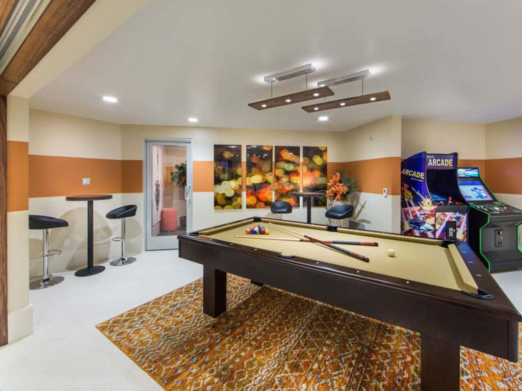 Billiards in the Club Room at Aria Apartments